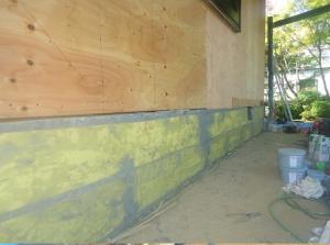 補強剤下塗り・アラミド繊維シート2段貼り